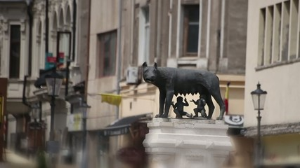 Capitoline Wolf Statue in Bucharest Romania