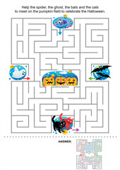 Halloween maze game for kids