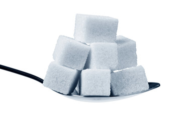 a spoonful of sugar cubes