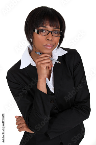 An African American businesswoman.