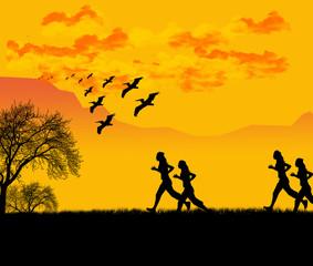 sport - corsa al tramonto