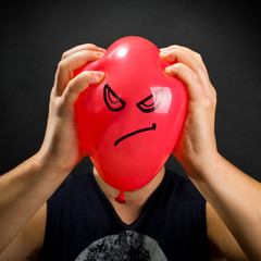 Squeezing angry balloon