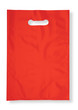 Red plastic bag on white (clipping pah)