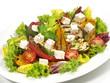 Salat mit Grillgemüse und Feta-Käse