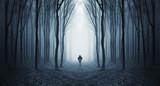 man in a dark forest - Fine Art prints