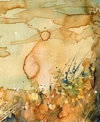 Artystyczne tło akwarelowe,