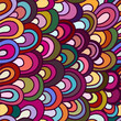 Seamless wave hand-drawn pattern, waves background