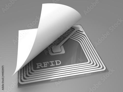 Leinwanddruck Bild Rfid sticker