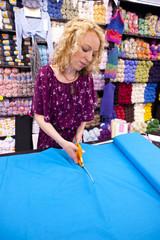 female cutting fabric 003