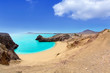 Lanzarote Papagayo turquoise beach and Ajaches