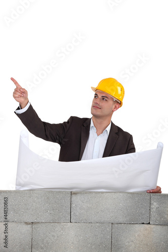 businessman on a construction site