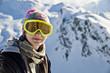 Portrait d'une jeune fille au ski - Alpes