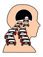 Confusione mentale - esaurimento - stress