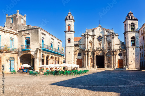 The Cathedral of Havana on a beautiful day
