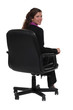 Business professional sitting in a swivel chair