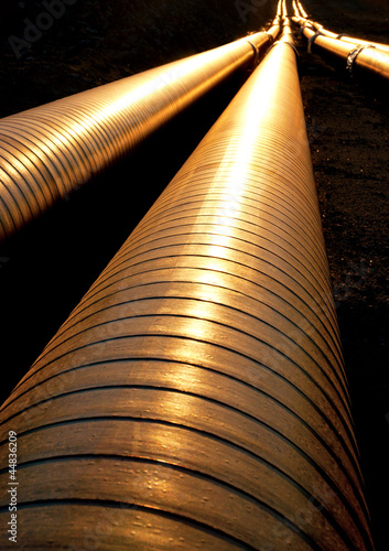 Pipelines in evening light