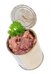 Canned meat with parsley