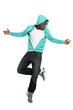 Hip Hop Dancer Jumping