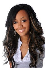 Portrait of Beautiful African American Woman