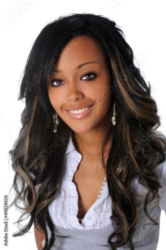 Portrait of Beautiful African American Woman