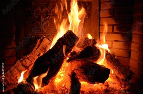 Papiers peints Feu, Flamme Kaminfeuer