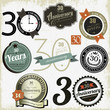 30 years anniversary signs and cards vector design