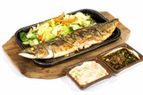 saba fish grilled poster