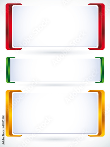3d banner set of color versions.