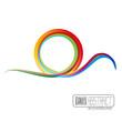 Vector rainbow wave background