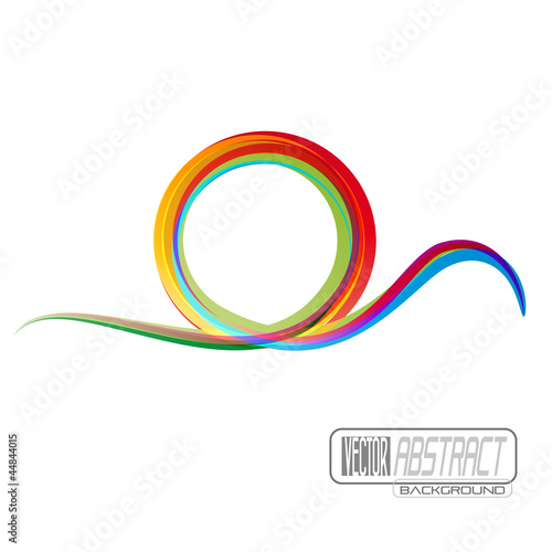 Vector rainbow wave background