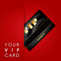 Vip card with folder