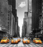 Fototapeta Nowy York - Avenue avec des taxis à New York. © Prod. Numérik