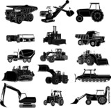 silhouette tractor