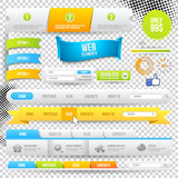 Vector Web Elements, Buttons and Labels