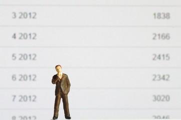 ビジネスマンと数字