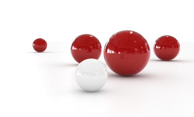 Red and White Sphere