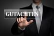 Mann drückt touchscreen button - Gutachten
