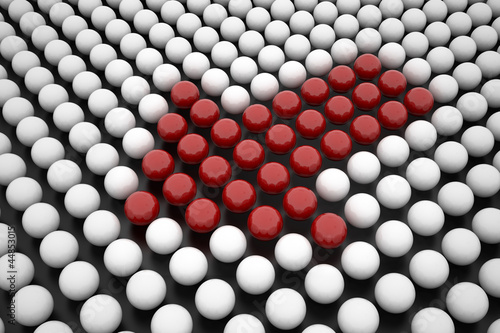 Red Arrow Made by Sphere Arrays -