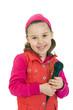 Mädchen mit Mikrofon