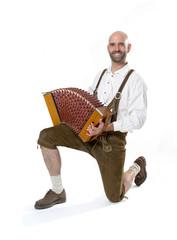 Mann mit Akkordeon