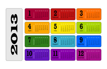 kalender planer colorful