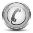 Telefon Button Silber