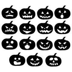 Pumpkin for halloween silhouette