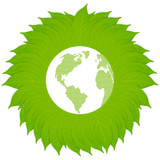Green earth vector background concept