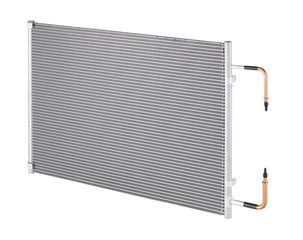 Radiator inside condensing of the home or office air conditioner