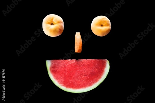 fruit face smiling