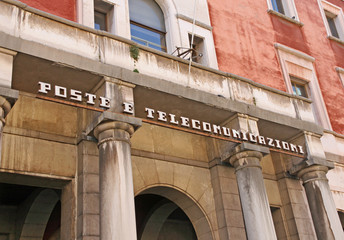 Offices of posts and telecommunications in a square in Northern