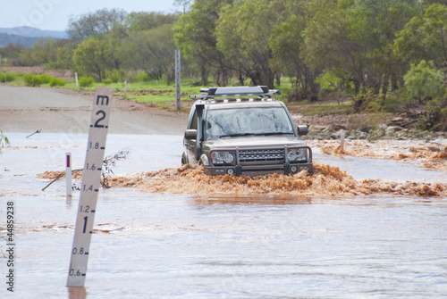 4WD crossing flooded road