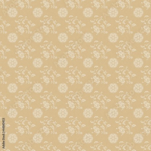 Seamless Beige & White Damask