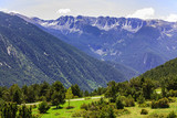 View of the mountains in the Pyrenees